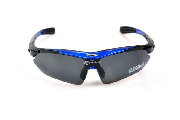 Športové polarizované okuliare s 5 vymeniteľnými viac-účelovými sklami - modré