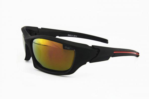 Športové polarizované slnečné okuliare - čierne + žlté