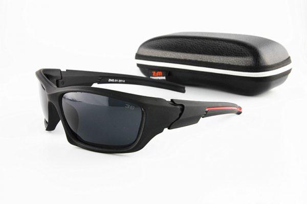 Športové polarizované slnečné okuliare - čierne