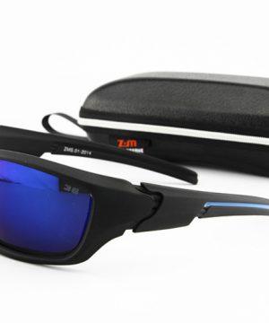 Športové polarizované slnečné okuliare - čierne + modré