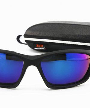 14845f8b1 Športové polarizované slnečné okuliare - čierne + modré