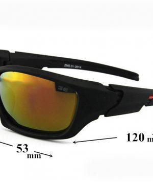Športové polarizované slnečné okuliare - tmavo červené
