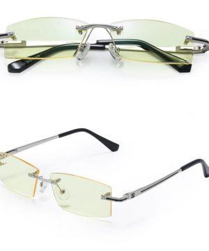 Štýlové okuliare bez rámika na prácu s počítačom aj nočnú jazdu