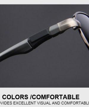 Štýlové polarizované slnečné okuliare - pilotky s čiernymi sklami