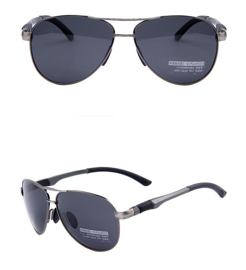 6ce7d8a68 Štýlové polarizované slnečné okuliare - pilotky s čiernymi sklami