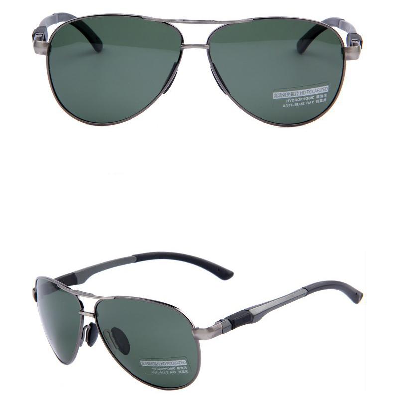 1dc113898 Štýlové polarizované slnečné okuliare - pilotky so zelenými sklami