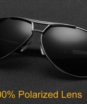 Kvalitné polarizované pánske slnečné okuliare s čiernym rámikom