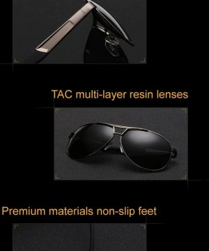 0d10e3129 Kvalitné polarizované pánske slnečné okuliare s čiernym rámikom