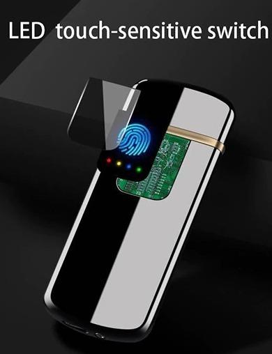 Luxusný USB zapaľovač bez plameňa s dotykovým displayom vo viacerých farbách