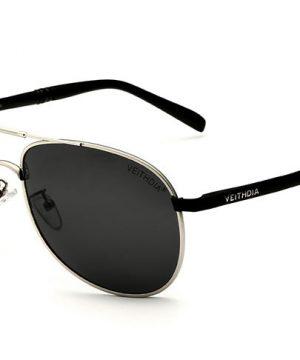 7989d4c4c Pánske polarizované slnečné okuliare - strieborné pilotky