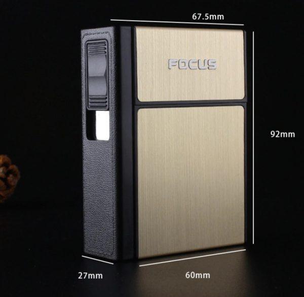USB zapaľovač bez plameňa s krabičkou na cigarety v 3 farbách