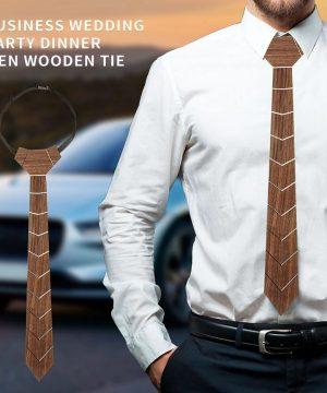 Luxusná drevená kravata z prírodného orechového dreva