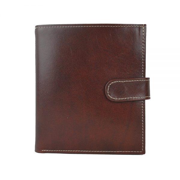 Pánska exkluzívna kožená peňaženka č.8333 v tmavo hnedej farbe