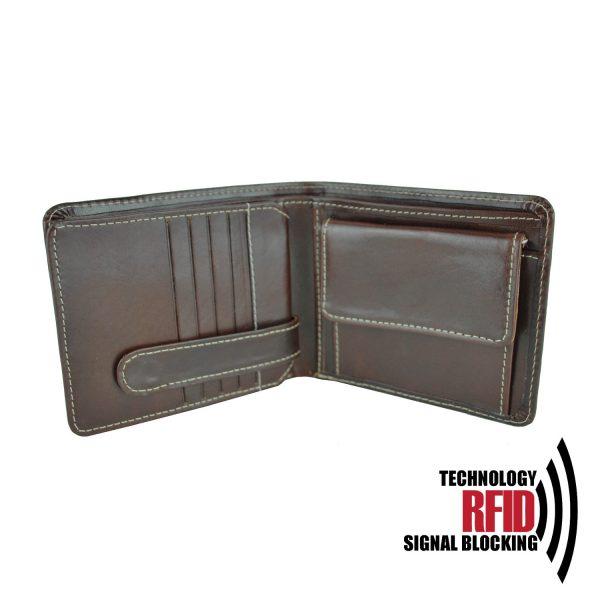 Kožená RFID peňaženka vybavená blokáciou RFID : NFC