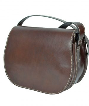 Lovecká kožená taška v hnedej farbe so skrytým magnetom