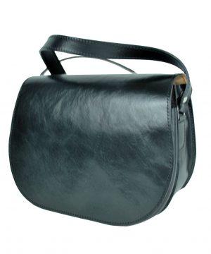 Lovecká kožená taška v čiernej farbe so skrytým magnetom