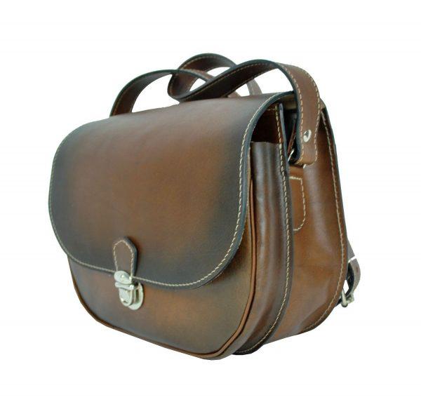 Lovecká kožená taška ručne tieňovaná so skrytým magnetom