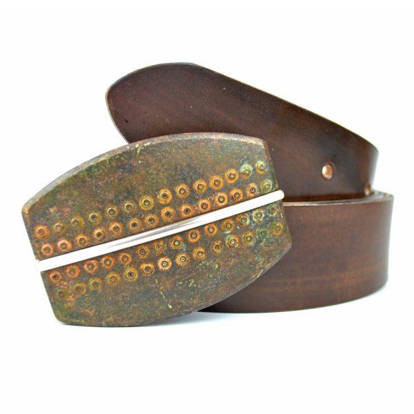 Ručne vyrobený kožený opasok Rusty - Limitovaná edícia