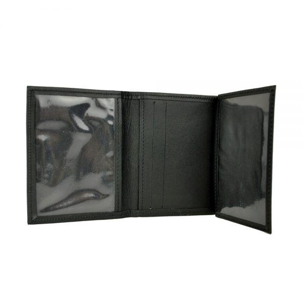 Púzdro na karty a doklady z prírodnej kože v čiernej