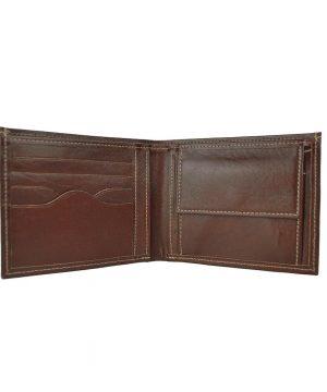 Pánska peňaženka z pravej kože č.8406 v tmavo hnedej farbe