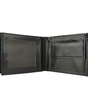 Pánska peňaženka z pravej kože č.8407 v čiernej farbe