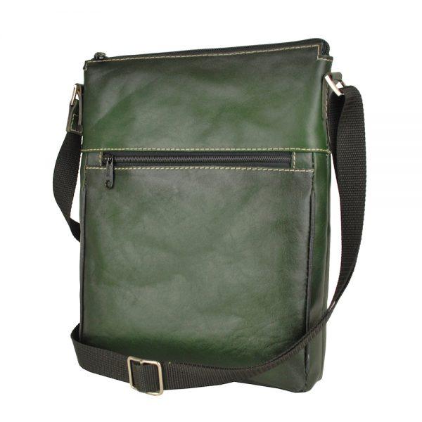 Pánska crossbody taška s ručným tieňovaním okrajov vyrobená z kvalitnej hovädzej kože z Talianska. Kožená crossbody taška ponúka dostatok priestoru pre uloženie všetkých potrebných vecí