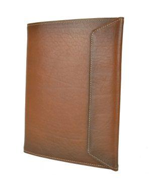 Kožený pracovný zápisník A5, ručne tieňovaný vo svetlo hnedej farbe