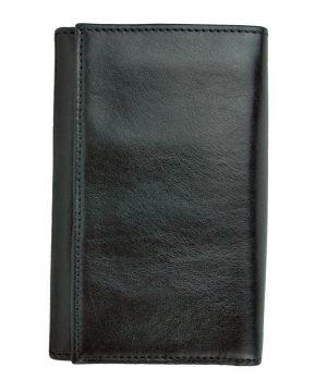 Pánska luxusná kožená peňaženka č.8542 v čiernej farbe