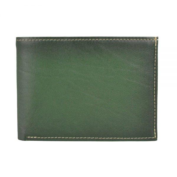 Pánska kožená peňaženka č.8552, ručne tieňovaná v zelenej farbe