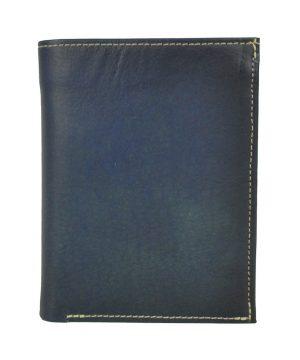 Pánska luxusná kožená peňaženka č.8560 v tmavo modrej farbe