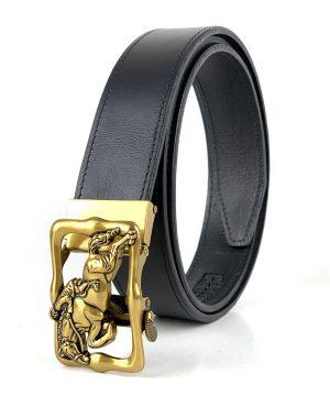 Pánsky kožený opasok s automatickou prackou GOLD HORSE