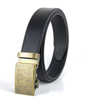 Pánsky kožený opasok s automatickou prackou ANTIQUE BRASS SIMPLE