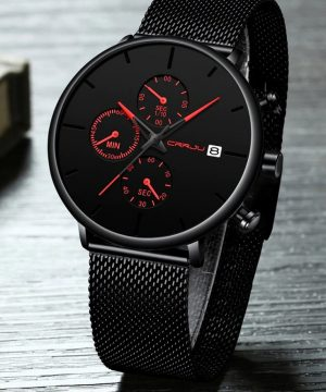 Prepracované pánske analógové hodinky vo viacerých farbách