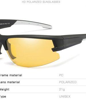 Kvalitné polarizované okuliare na noc s bielo-čiernym rámikom