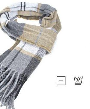 Kvalitný pánsky šál zo 100% bavlny, rozmer 190 x 30 cm