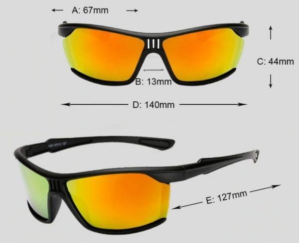 Luxusné polarizované okuliare vhodné na jazdu v noci