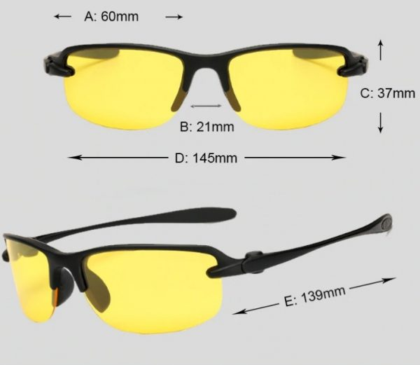 Moderné polarizované okuliare do nepriaznivého počasia a na noc