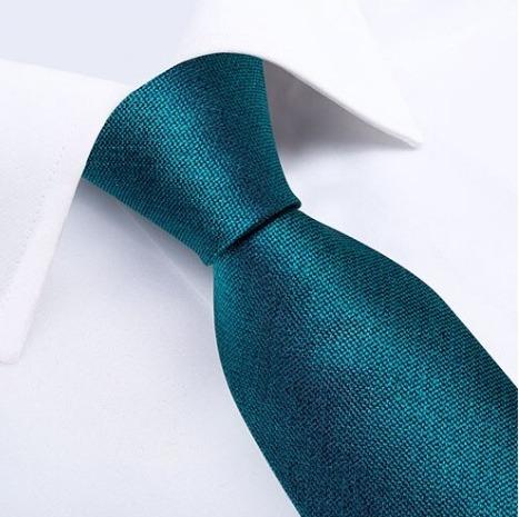 Tyrkysová pánska sada - kravata + manžetové gombíky + vreckovka