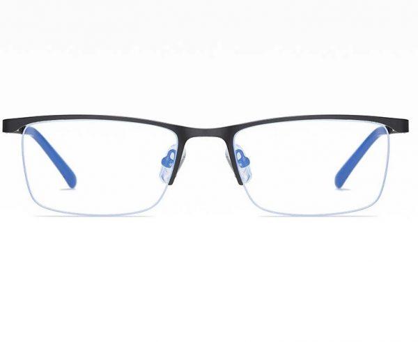 Business štýlové okuliare s filtrom proti žiareniu monitora - čierne