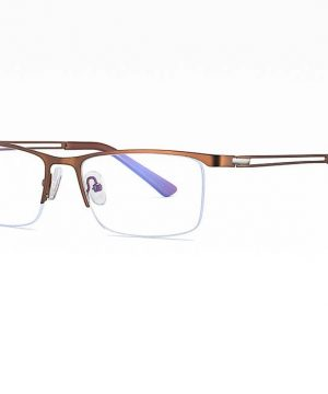 Business štýlové okuliare s filtrom proti žiareniu monitora - hnedé