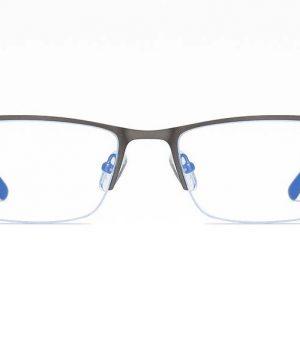 Business štýlové okuliare s filtrom proti žiareniu monitora - sivé