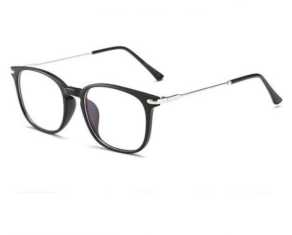 Luxusné okuliare na prácu s počítačom so strieborno-čiernym rámikom