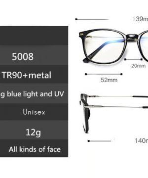 Luxusné okuliare na prácu s počítačom so zlato-čiernym rámikom