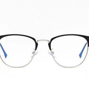 Praktické okuliare s filtrom proti žiareniu monitora - čierno-strieborný rámik