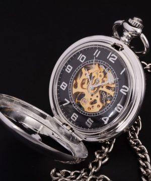 Prepracované samo-naťahovacie pánske vreckové hodinky
