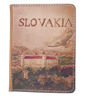 Ručne vyklepávaný, tvarovaný a reliéfny kožený diár - Slovakia, Bratislavský hrad