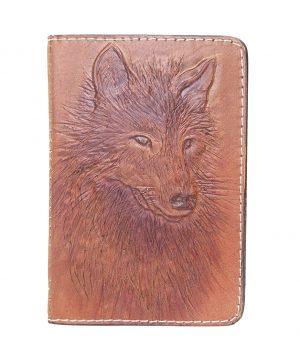 Ručne vyklepávaný, tvarovaný a reliéfny kožený diár - Vlk