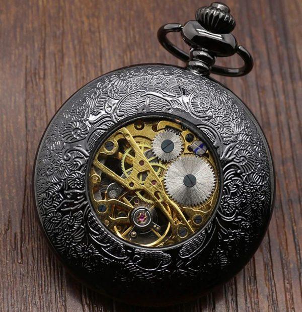 Samo-naťahovacie pánske vreckové hodinky v luxusnom prevedení