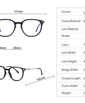 Štýlové okuliare na prácu na počítači s ochranným filtrom