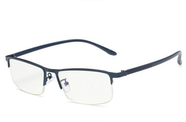 Štýlové okuliare s filtrom na prácu s počítačom v modrej farbe